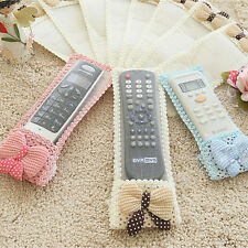 Best Bowknot Lace Remote TV Control Dustproof Full Cover Bags Protector AJ21 MO