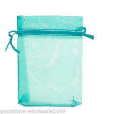 Wholesale Lots 9x12cm Organza Jewelry Gift Pouch Bags Wedding Favor Lightblue