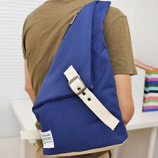 Men Canvas Messenger Shoulder Bag Motorcycle Travel Outdoor Gym Sling Chest Pack