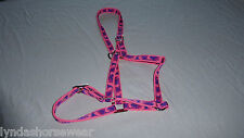 Pink Camouflage Camo Webbing Head Collar, Made to Order. Choice of Fastening
