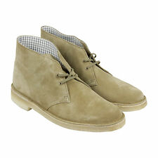Clarks Desert Boot Mens Tan Suede Casual Dress Lace Up Chukkas Shoes