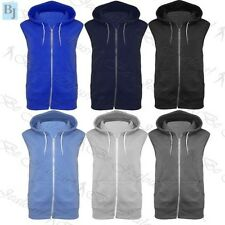 Kids Sleeveless Hooded Sweatshirt Hoodie Casual Zipper Gilet Jacket Jumper Top