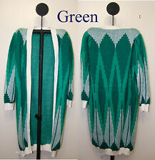 """Women's Long 45""""  Cardigan Open Front Sweater - Size S - 50"""" chest"""