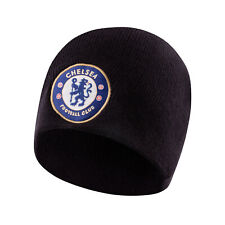 Chelsea FC Official Soccer Gift Kids Knitted Bronx Beanie Hat Crest