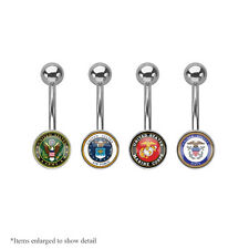 U.S. Armed Forces Logo Belly Ring
