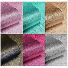 SPARKLE GLITTER WALLPAPER IDEAL FOR FEATURE WALLS - PINK GOLD SILVER BLACK TEAL