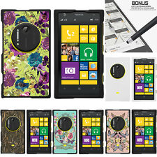 For Nokia Lumia 1020 Elvis Case Hard Snap On 2 Piece Shell Butterfly Flowers