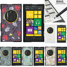 For Nokia Lumia 1020 Elvis Case Hard Snap On 2 Piece Slim Shell Elegant Flowers