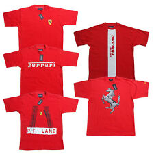 Ferrari men's T-Shirt Scuderia Formula 1 Team F1 Red Shirt Top Cotton