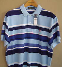 NWT $90 POLO RALPH LAUREN Mens M L XL STRIPED MESH SHIRT Sterling Multi Blue