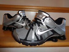 NIKE SHOX TURBO+ ROADSTER WHITE-SILVER-GRAY-BLACK 487841-010 BOYS SHOES 7Y YOUTH
