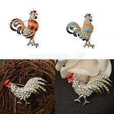 Gold/Silver Tone Rhinestone Crystal Animals Brooch Pin Party Unisex Style Gift