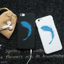 Ultra Thin Artistic Feather Slim Matte Back Cover Case For iPhone 6 Plus/6S Plus