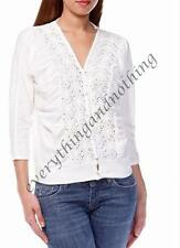 LA REDOUTE  off white with Crochet Detail and batwing sleeves Cardigan Top