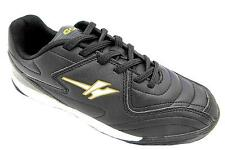 Gola Pitch Boy's Black And Gold Lace Up Astroturf Football Style Trainers New
