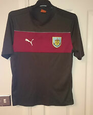 Puma BURNLEY FC Football Training Shirt Black Soccer Jersey Medium Warm Up Top M