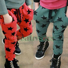 Fashion Korean Kids Boys Girls Stars Trousers Toddlers Pants Costume 2-7 Years