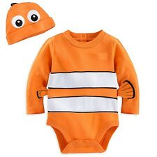 Disney Store Finding Nemo Baby Costume Outfit & Hat Size 3 6 9 12 18 24 Months