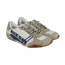 Diesel Solar Mens White Suede & Nylon Lace Up Sneakers Shoes
