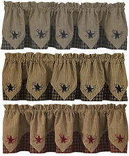 Sturbridge Star Embroidered Point Valance by Park Designs, 72x15, 3 Colors, Pick