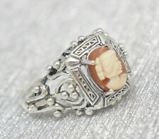 Cameo Ring Silver 925 ANTIQUE STYLE Sterling silver