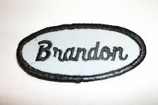 BRANDON USED EMBROIDERED VINTAGE SEW ON NAME PATCH TAG ASSORTED COLORS