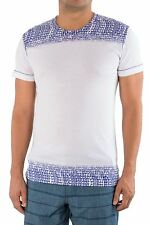 Just Cavalli Authentic Men Designer Fitted T-Shirt Tee White Cotton L M S XS