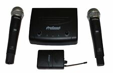 ProSound UHF Twin Handheld and Body Pack Mic Kit - Dual Channel Fixed Frequency