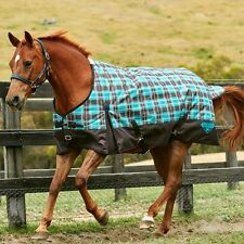 Weatherbeeta 1200D Waterproof Winter Horse Blanket Turnout Hvy Teal Plaid Brown