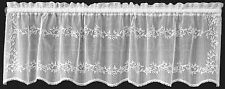Sheer Divine Valance by Heritage Lace, 60x16, Choice of White, Ecru or Flax