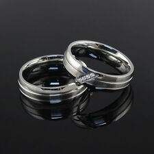 Women/Men's Silver Wedding Band Couple Stainless Steel Engagement Ring Size 5-13