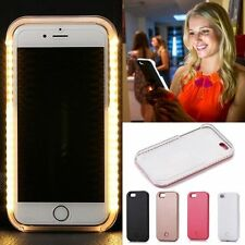 Bright night Light UP Flash LED Selfie Lume Luminous Hard Case For iPhone 6 6s