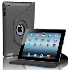 Apple iPad 2/3/4 360 Rotating PU Leather Case Smart Cover Stand Wake/Sleep