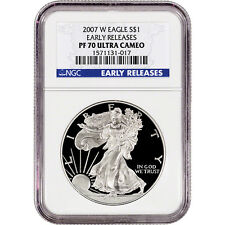 2007-W American Silver Eagle Proof - NGC PF70 UCAM - Early Releases