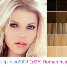 "16""-26"" Micro Loop Ring Beads Human Hair Extensions Ombre/Mixed Highlight Colour"