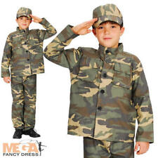 Action Commando Army Military Boys Fancy Dress Uniform Costume Childrens Outfit