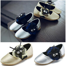 New Faux Leather Princess Shoes Girl's  Velcro Casual Shoes Flats Non Slip Shoes