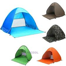 Outdoor Camping Hiking Fishing Beach Tent 2-3 Person Folding UV Protection Tent