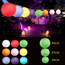 10X  Round Paper Lanterns Lanterns Lamp Birth Wedding Party Christmas Decoration