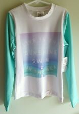NWT Old Navy Girls MED LARGE Long Sleeve Rash Guard SUN SHIRT Cover Up  #107916