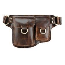 Adonis 2 Leather Waist Purse Fanny Pack