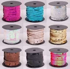 1Roll(About 100Yards) Shiny Plastic Sequin Paillette Cord Fit for Clothing Acces