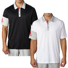 Adidas Golf 2016 Mens climacool Sleeve Blocked Polo Shirt Short Sleeve