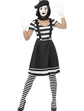 Lady Mime Artist Mesmerizing French Funny Costume Funnyside Fancy Dress