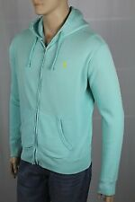 Polo Ralph Lauren Green Weathered Hoodie Full Zip Sweatshirt NWT