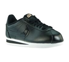 NEW NIKE WMNS Classic Cortez Leather Shoes Women's Sneaker Trainers Black