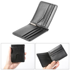 Men and Women Genuine Leather Money Clip Wallet ID Credit Card Holder Case
