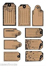 Clear Rubber Stamps - Kraft Tags - Labels - 1107 - New Release