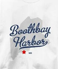 Boothbay Harbor, Maine ME MAP Souvenir T Shirt All Sizes & Colors