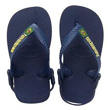 Havaianas H.baby Brasil Baby Kid's Toe Post Flip Flop Sandals With Backstrap New